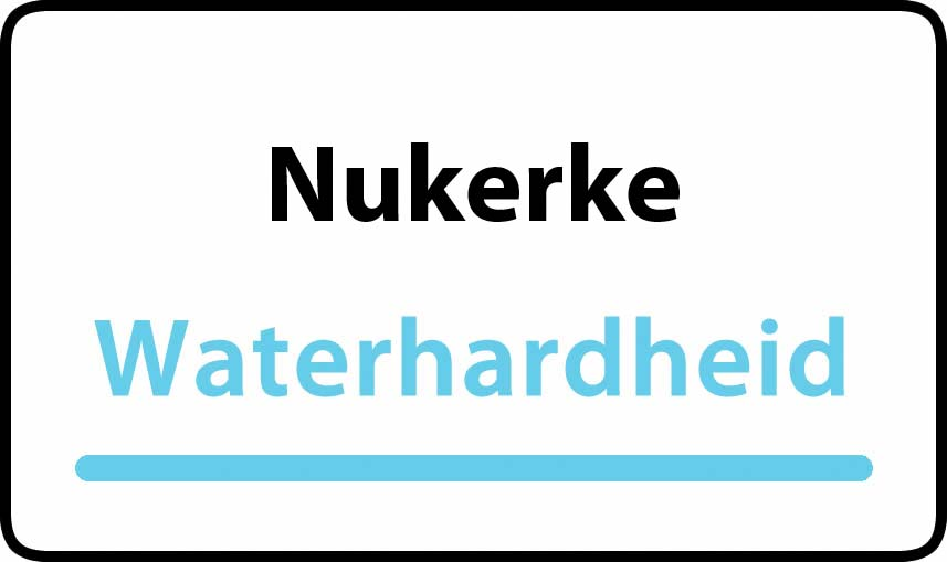 waterhardheid in Nukerke is hard water 39 °F Franse graden