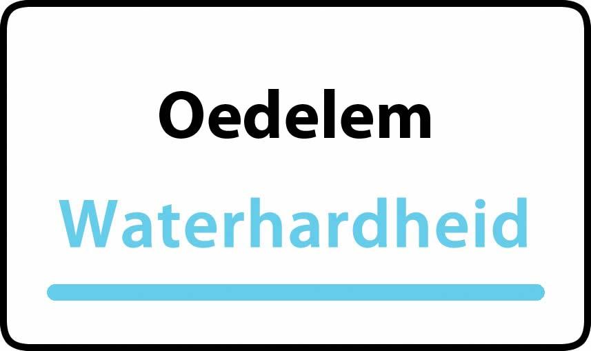 waterhardheid in Oedelem is hard water 32 °F Franse graden