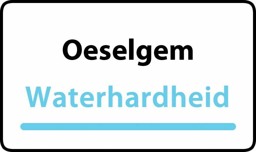 waterhardheid in Oeselgem is hard water 36 °F Franse graden