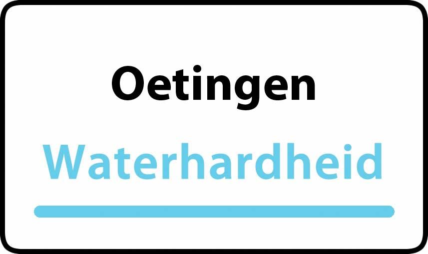 waterhardheid in Oetingen is hard water 42 °F Franse graden