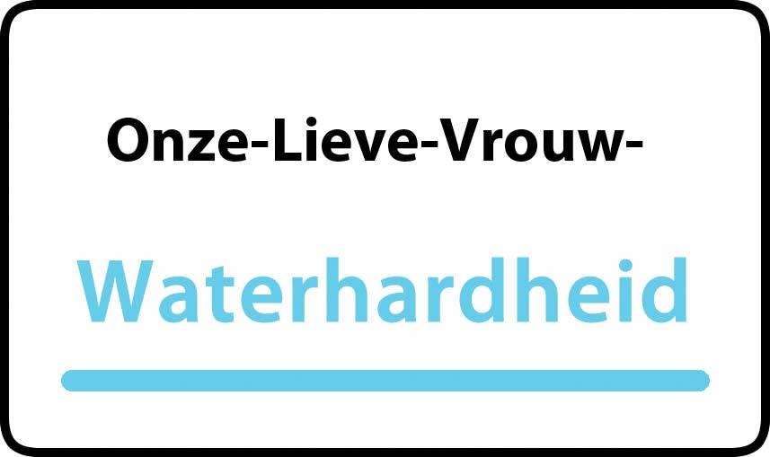 waterhardheid in Onze-Lieve-Vrouw-Lombeek is hard water 42 °F Franse graden