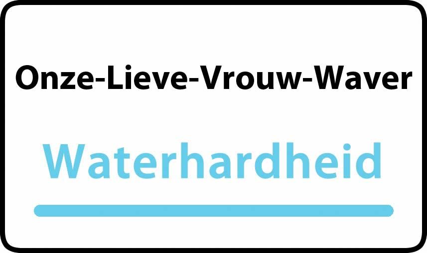 waterhardheid in Onze-Lieve-Vrouw-Waver is middel hard water 19 °F Franse graden