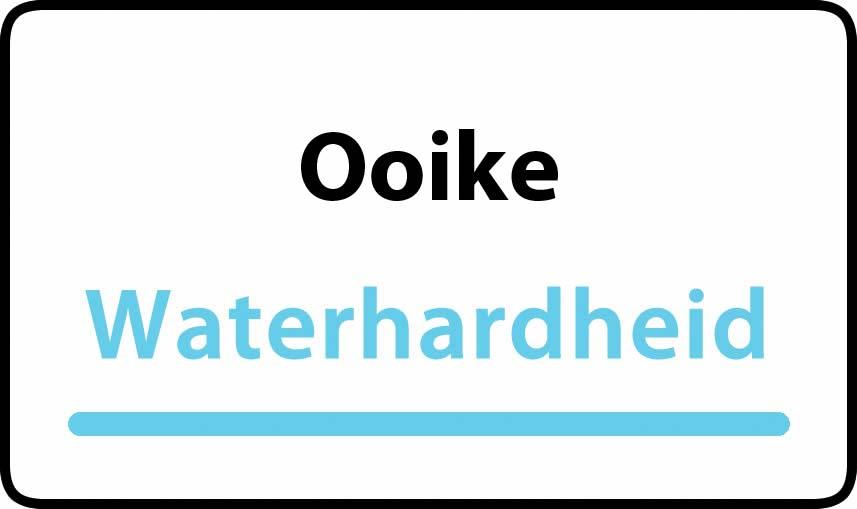 waterhardheid in Ooike is hard water 40 °F Franse graden