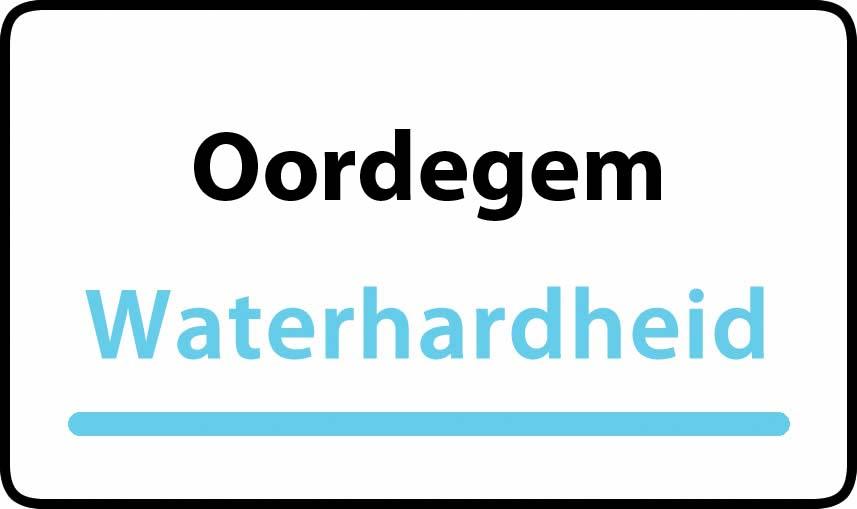 waterhardheid in Oordegem is middel hard water 23 °F Franse graden