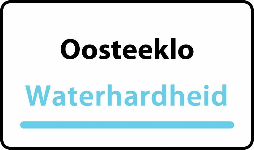 waterhardheid in Oosteeklo is hard water 33 °F Franse graden