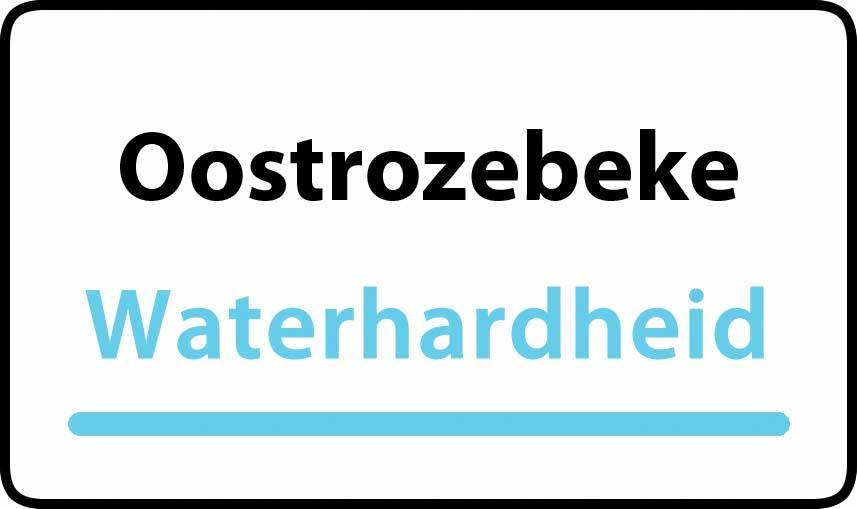 waterhardheid in Oostrozebeke is hard water 35 °F Franse graden