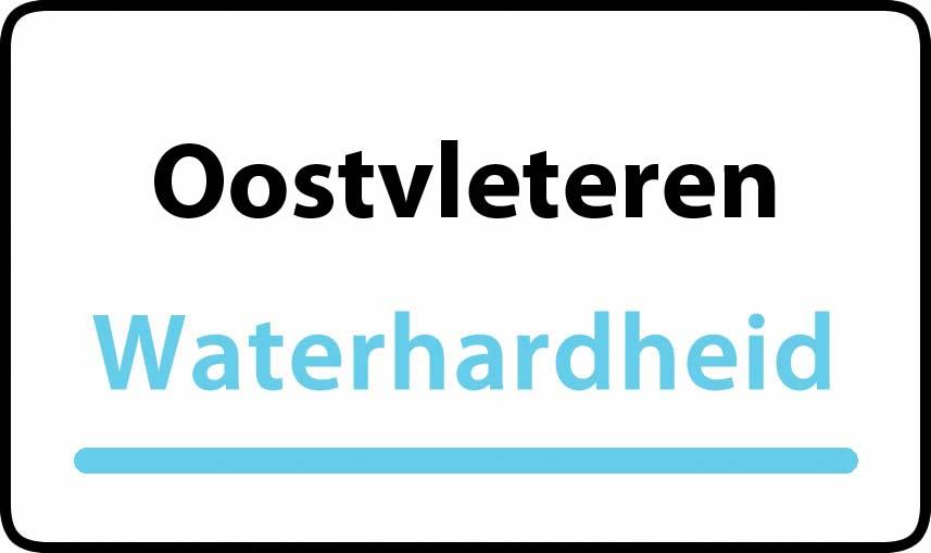 waterhardheid in Oostvleteren is hard water 30 °F Franse graden