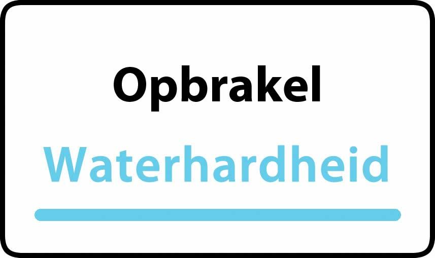 waterhardheid in Opbrakel is hard water 39 °F Franse graden
