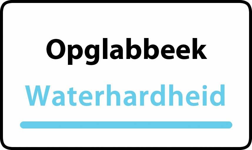 waterhardheid in Opglabbeek is middel hard water 18 °F Franse graden