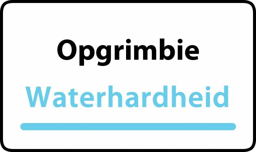 waterhardheid in Opgrimbie is middel hard water 22 °F Franse graden
