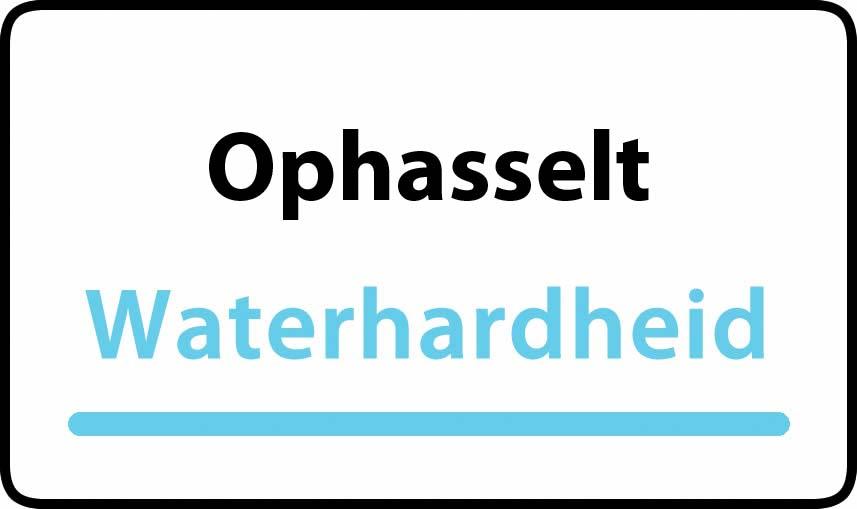 waterhardheid in Ophasselt is zeer hard water 55 °F Franse graden