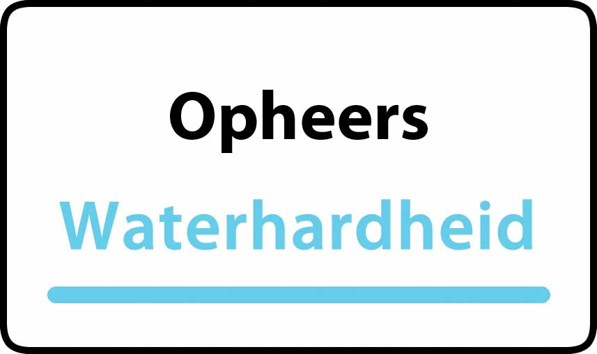 waterhardheid in Opheers is hard water 37 °F Franse graden