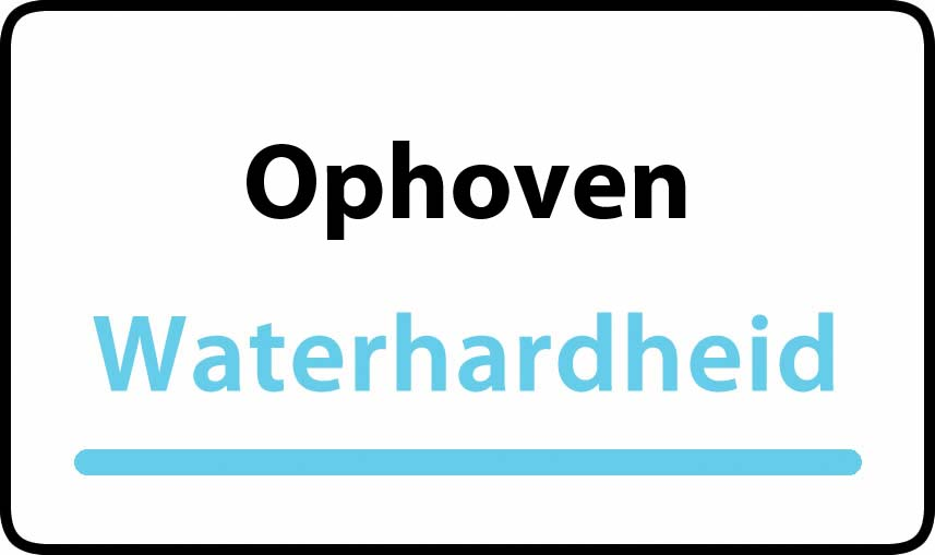 waterhardheid in Ophoven is middel hard water 15 °F Franse graden
