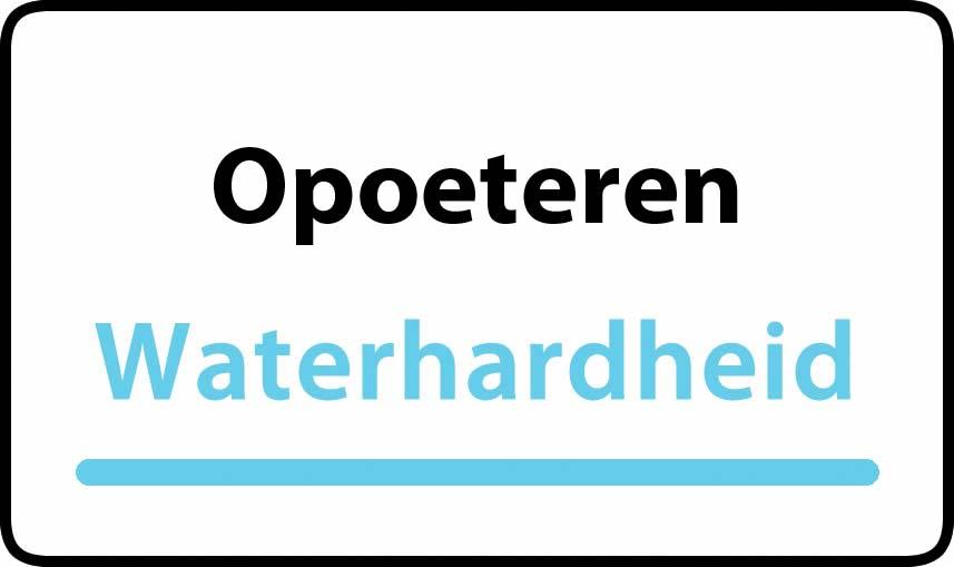 waterhardheid in Opoeteren is middel hard water 16 °F Franse graden