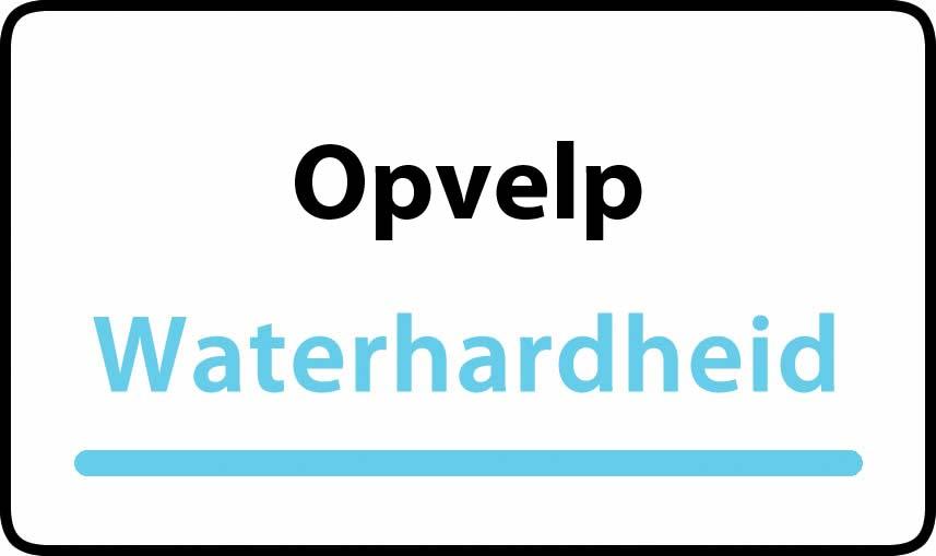 waterhardheid in Opvelp is hard water 34 °F Franse graden
