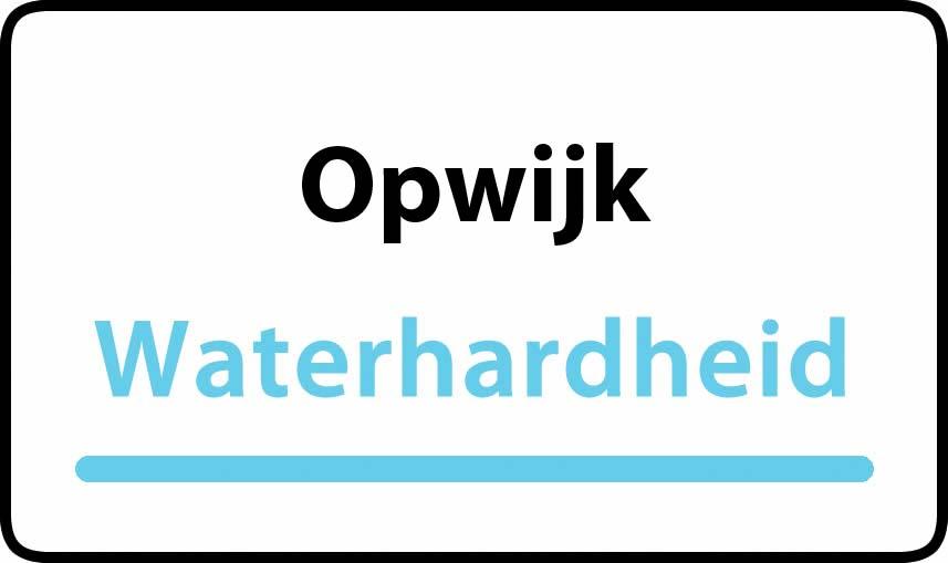 waterhardheid in Opwijk is hard water 34 °F Franse graden