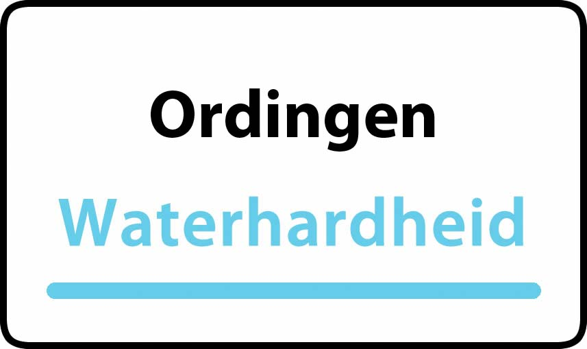 waterhardheid in Ordingen is hard water 38 °F Franse graden
