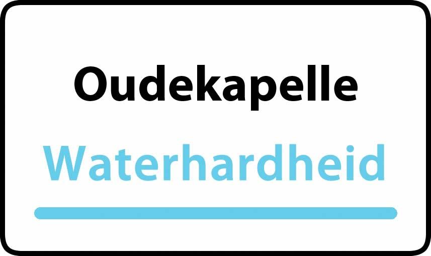 waterhardheid in Oudekapelle is middel hard water 27 °F Franse graden