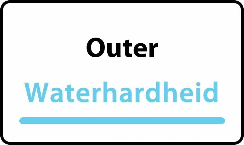 waterhardheid in Outer is hard water 39 °F Franse graden