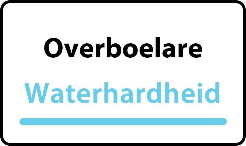 waterhardheid in Overboelare is zeer hard water 55 °F Franse graden