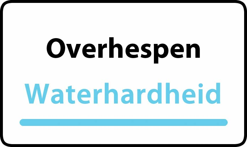 waterhardheid in Overhespen is middel hard water 21 °F Franse graden