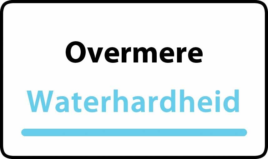waterhardheid in Overmere is middel hard water 18 °F Franse graden