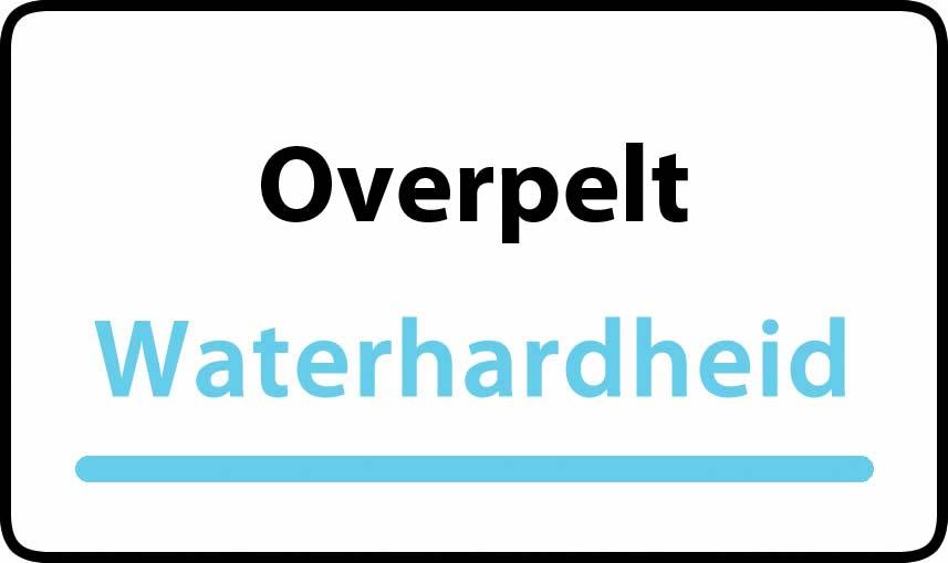 waterhardheid in Overpelt is middel hard water 15 °F Franse graden