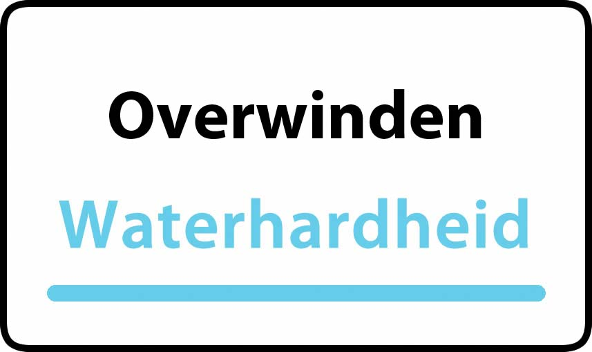 waterhardheid in Overwinden is middel hard water 18 °F Franse graden