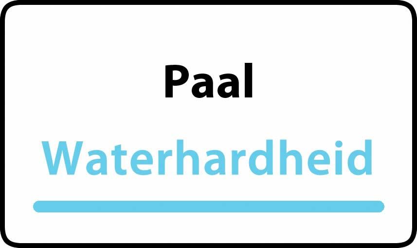 waterhardheid in Paal is middel hard water 16 °F Franse graden