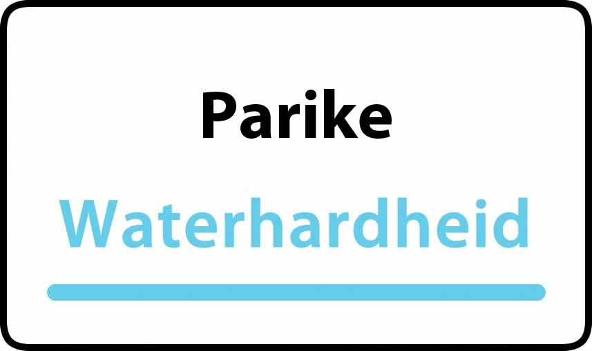 waterhardheid in Parike is hard water 39 °F Franse graden