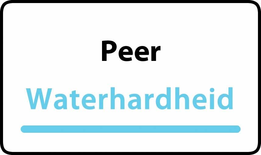 waterhardheid in Peer is middel hard water 15 °F Franse graden