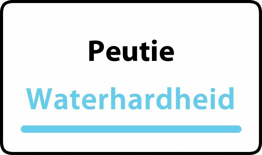 waterhardheid in Peutie is hard water 39 °F Franse graden