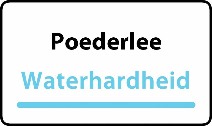 waterhardheid in Poederlee is middel hard water 18 °F Franse graden
