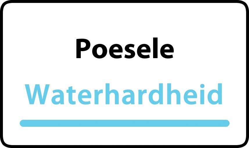 waterhardheid in Poesele is hard water 39 °F Franse graden