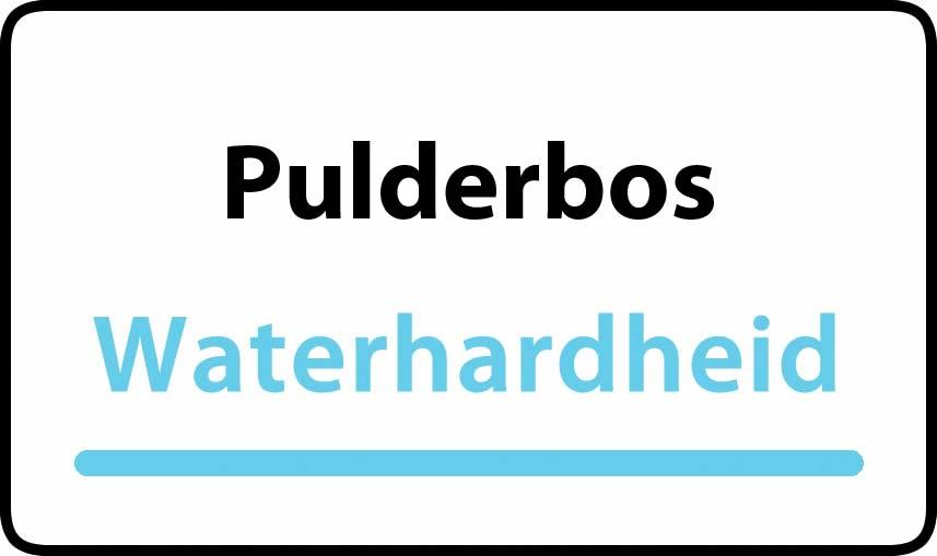 waterhardheid in Pulderbos is middel hard water 18 °F Franse graden