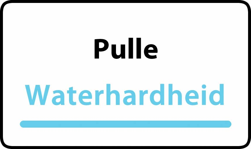 waterhardheid in Pulle is middel hard water 18 °F Franse graden