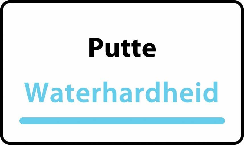 waterhardheid in Putte is middel hard water 19 °F Franse graden