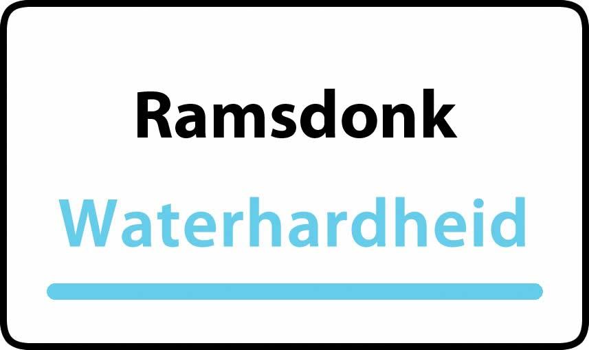 waterhardheid in Ramsdonk is hard water 38 °F Franse graden