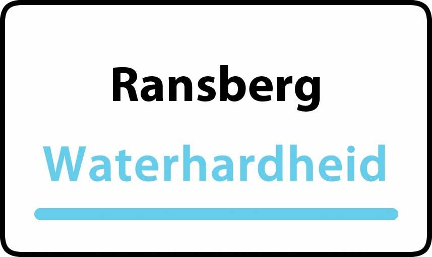 waterhardheid in Ransberg is middel hard water 21 °F Franse graden