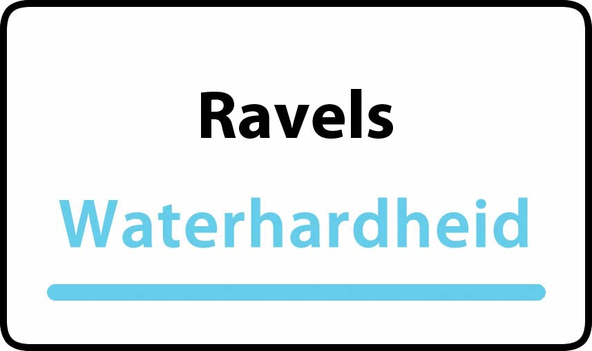 waterhardheid in Ravels is middel hard water 16 °F Franse graden