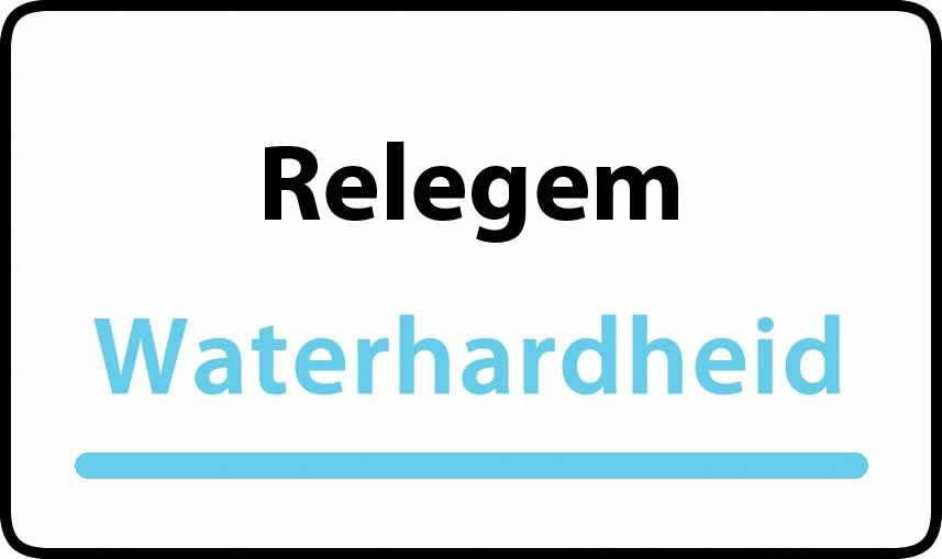 waterhardheid in Relegem is hard water 30 °F Franse graden