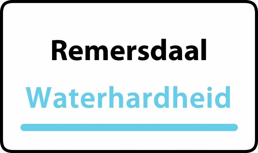 waterhardheid in Remersdaal is middel hard water 15 °F Franse graden