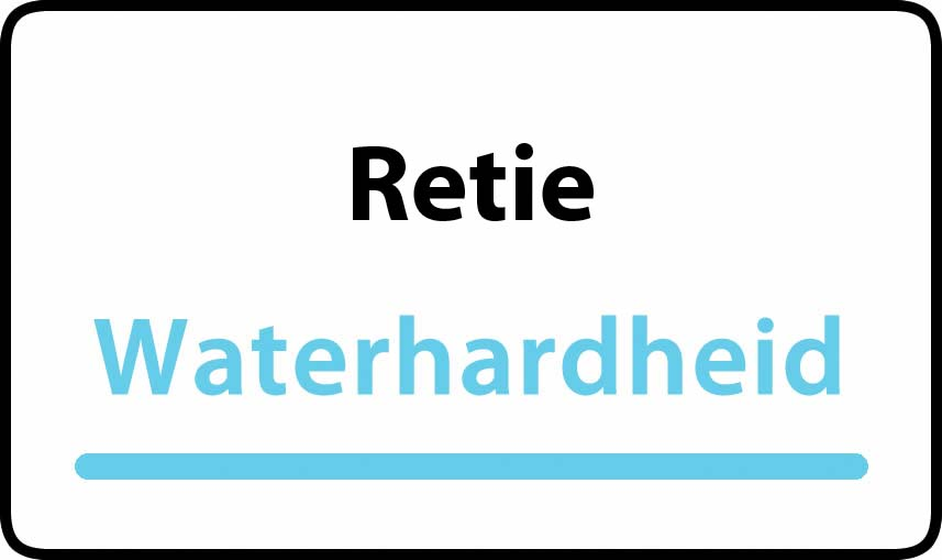 waterhardheid in Retie is middel hard water 16 °F Franse graden