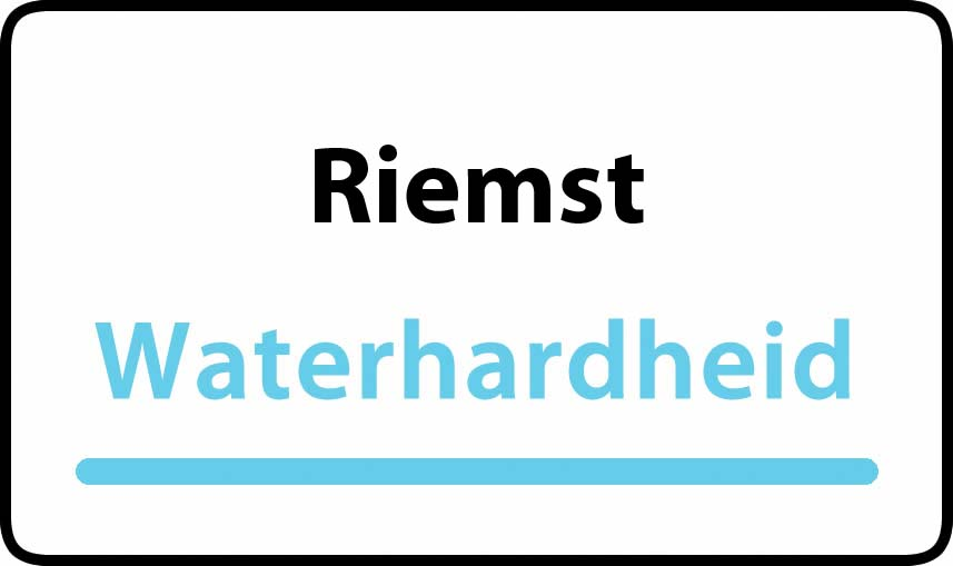 waterhardheid in Riemst is hard water 37 °F Franse graden