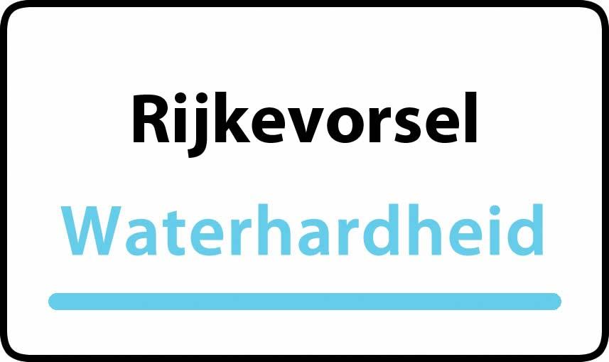 waterhardheid in Rijkevorsel is middel hard water 18 °F Franse graden