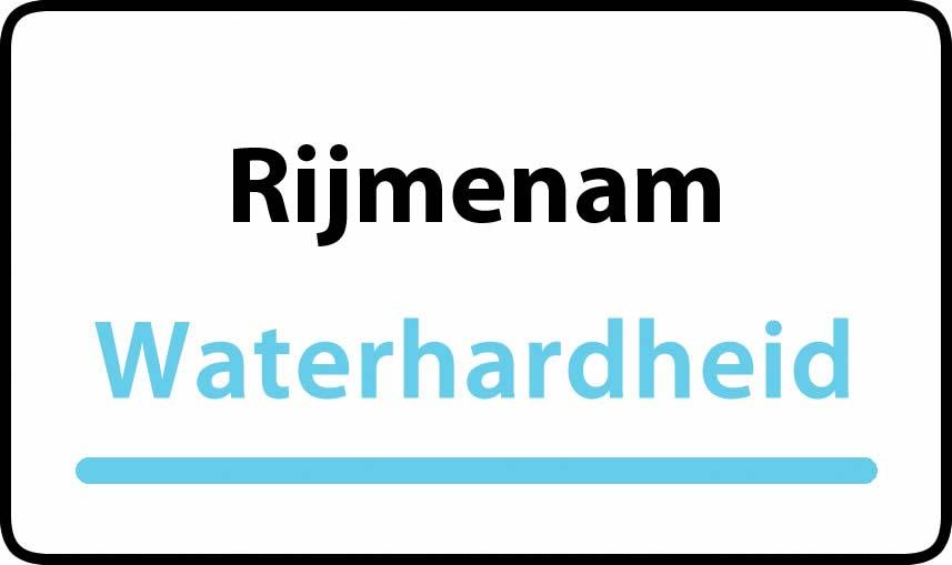 waterhardheid in Rijmenam is middel hard water 19 °F Franse graden