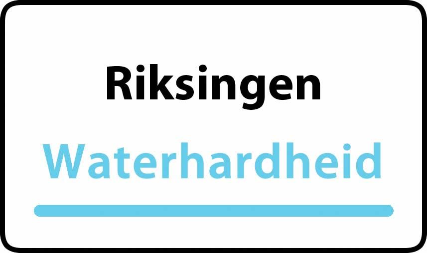 waterhardheid in Riksingen is hard water 37 °F Franse graden
