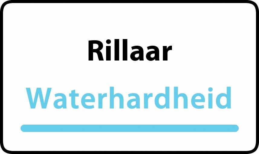 waterhardheid in Rillaar is middel hard water 18 °F Franse graden