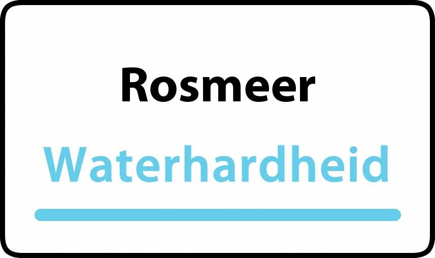 waterhardheid in Rosmeer is hard water 35 °F Franse graden