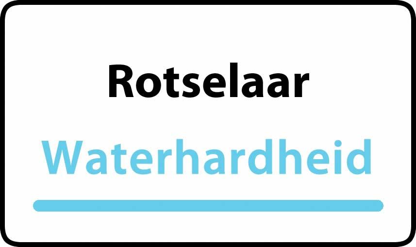 waterhardheid in Rotselaar is hard water 37 °F Franse graden